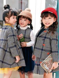 DIZAI棣仔童装女童格子外套