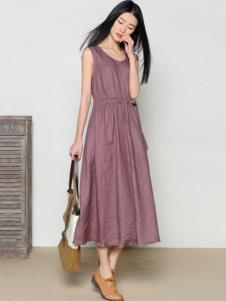 玛希露女装棉麻时尚连衣裙