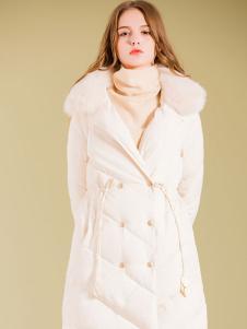 BG白色长款羽绒服