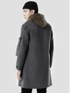 第二印象男装灰色大衣