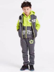 皮咖丘童装时尚拼接运动套装