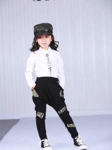 艾米巴童装白色时尚衬衫