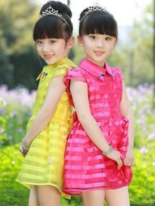 摩卡小寶童裝條紋時尚女裙