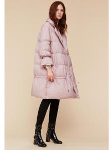 季候风女装羽绒服粉色韩版