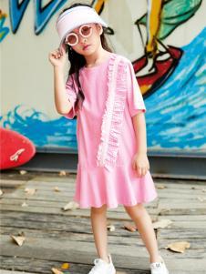 玛玛米雅春夏新款粉色连衣裙