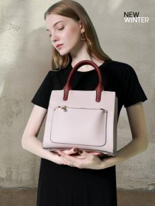 MUMGO木木果经典粉色手提包