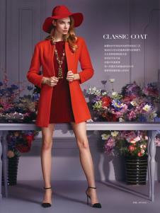 蕾沃尔女装红色时尚大衣