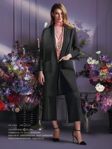 蕾沃尔女装灰色宽松大衣