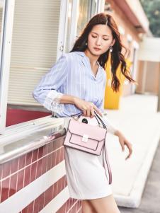 MUMGO木木果女款粉色斜跨小包