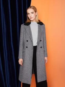 俪音之家女装灰色时尚大衣