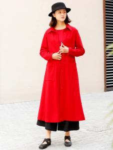 zolle女装2019红色大衣