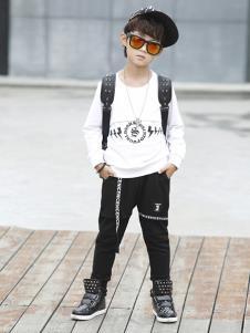 叁时號童装白色休闲T恤