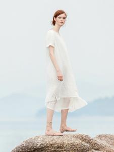 ZOLLE因为19白色气质连衣裙