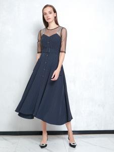 JAOBOO乔帛新款中长袖连衣裙