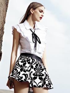 AQTWO女装白色时尚衬衫