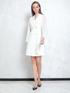 JAOBOO乔帛新款白色连衣裙