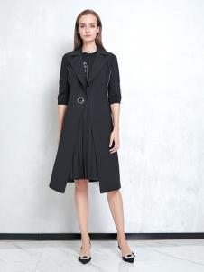 JAOBOO乔帛新款黑色连衣裙