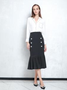 JAOBOO乔帛新款黑色鱼尾裙