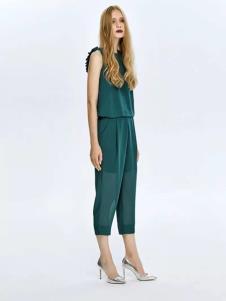 EYE OF P女装绿色时尚套装