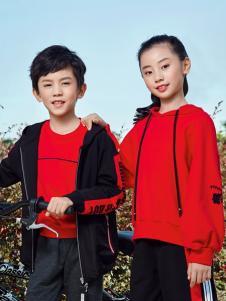 嗒嘀嗒童装新款红色套装