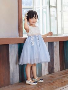 嗒嘀嗒童装新款无袖连衣裙