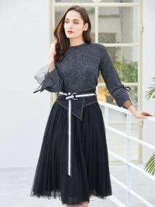 金蝶茜妮新款时尚修身连衣裙