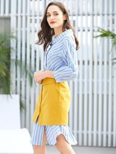 金蝶茜妮新款衬衫裙