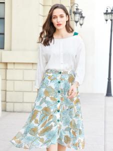 金蝶茜妮新款时尚印花半身裙