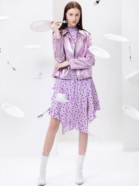 2019Ms.Leyna女装紫色时尚套装