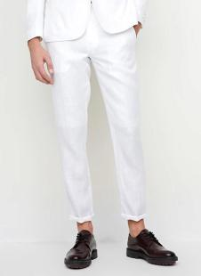 裁圣私服定制白色休闲西裤