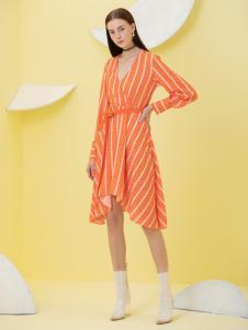 2019Ms.Leyna女装条纹连衣裙