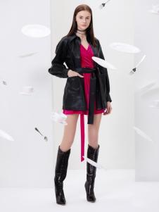 2019Ms.Leyna女装黑色外套