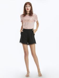 2019凡恩女装粉色T恤