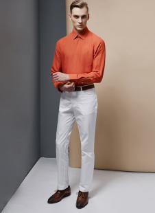 裁圣私服定制橘红时尚衬衫
