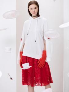 2019Ms.Leyna女装白色个性卫衣