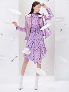 2019Ms.Leyna女装紫色小外套