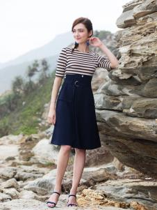 BLSS布伦圣丝新款及膝半身裙