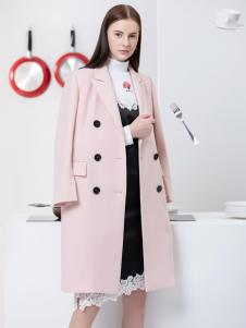 2019Ms.Leyna女装粉色大衣