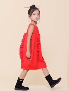 2019JOJO童装女童红色裙子