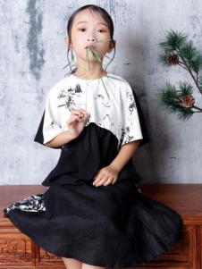 2019JOJO童装可爱黑白连衣裙