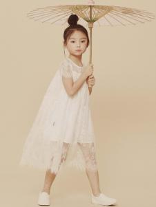2019JOJO童装女童白色韩版纱裙
