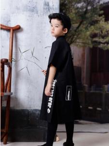 2019JOJO男童黑色设计师范外套