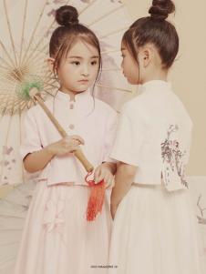 2019JOJO女童复古白色连衣裙