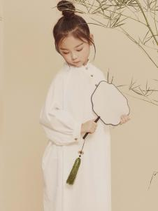 2019JOJO女童白色连衣裙