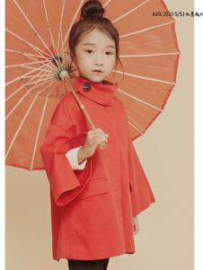 2019JOJO童装女童红色外套