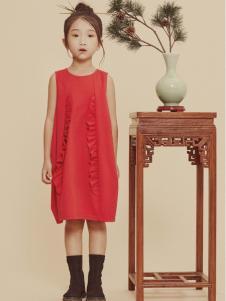 2019JOJO童装女童可爱红色裙子