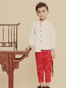 2019JOJO男童白色衬衫