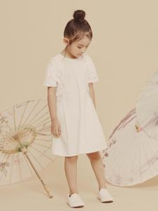 2019JOJO童装女童可爱小白裙