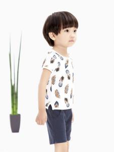 摩亚小作童装白色休闲T恤