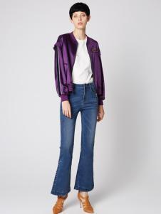2019季候风春新款紫色夹克
